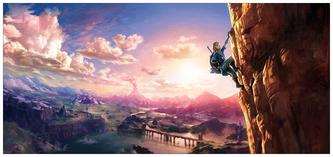 Неформатный постер Legend of Zelda / Легенда о Зельде